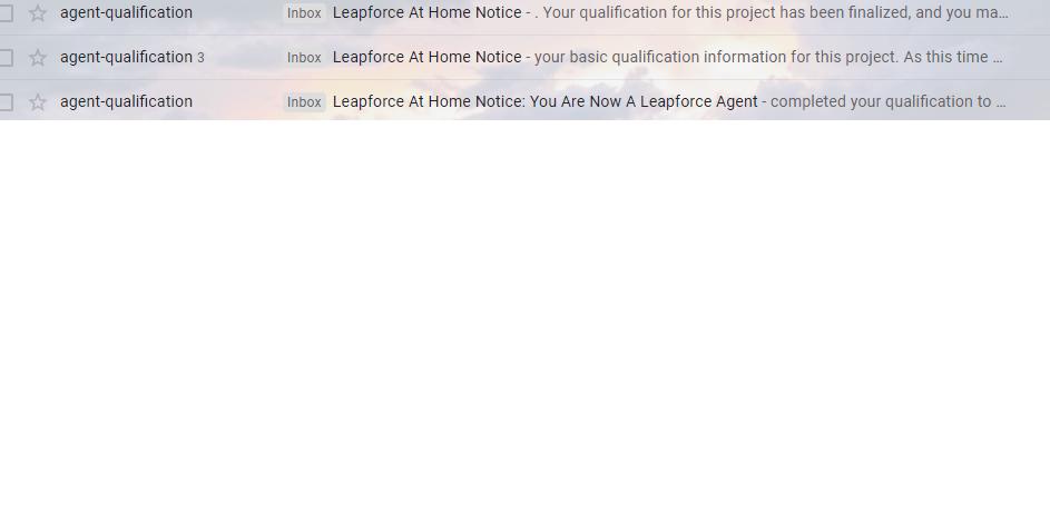 Leapforce email invite