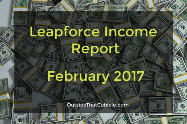 Leapforce Income Report - February - Outside That Cubicle