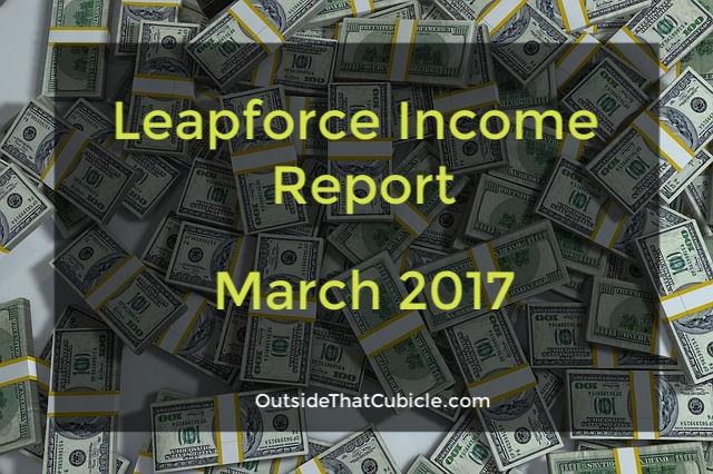 Leapforce Income Report – March 2017