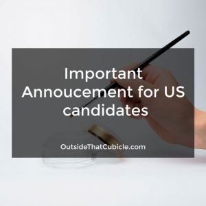 Announcement for US candidates