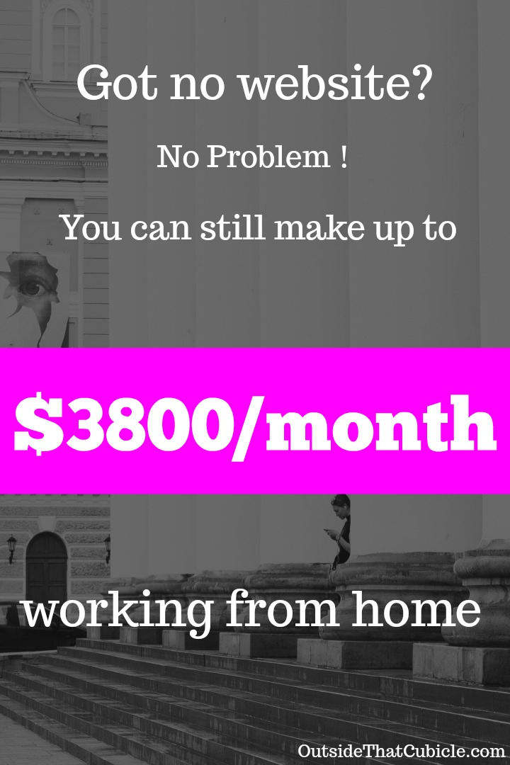 Got no website? No problem! This is how I made up over $3800 per month
