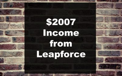 Leapforce income of $2007 or 1.4 lakh along with payment proof