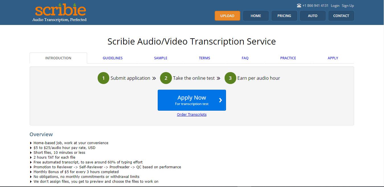 Make Money Online Transcribing