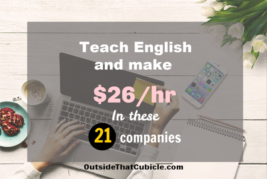 Get paid $26/hr for online English teaching jobs in these 21 reputed companies
