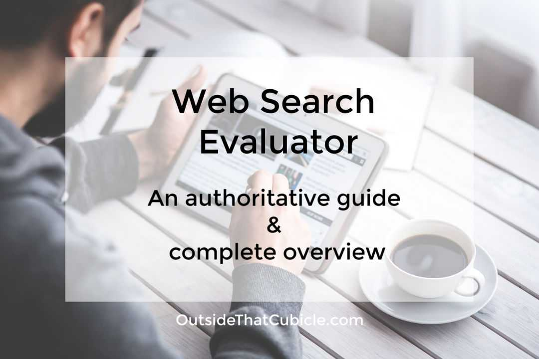 Web Search Evaluator - A complete authoritative guide