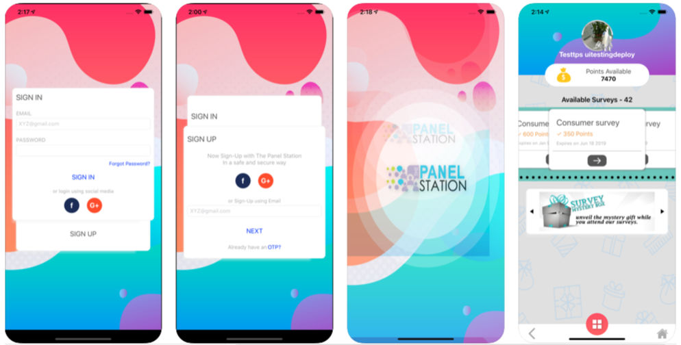 Money survey app