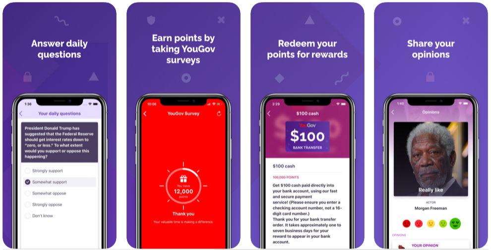 Take surveys for money app